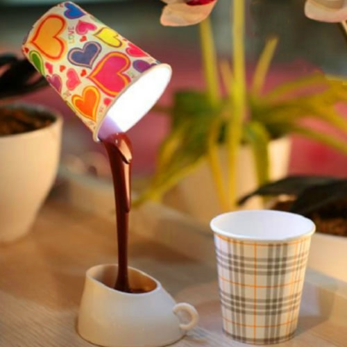 Creative DIY USB Pour Coffee Cup LED Table LightHome &amp; Garden<br>Creative DIY USB Pour Coffee Cup LED Table Light<br>