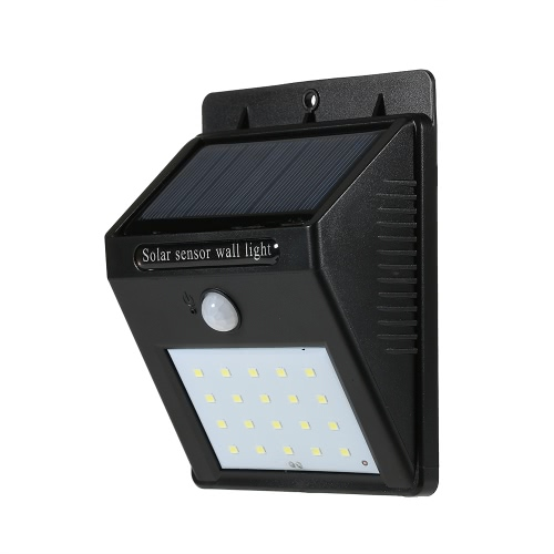 20LEDs Solar-powered Rechargeable PIR Motion Activated Wall LightHome &amp; Garden<br>20LEDs Solar-powered Rechargeable PIR Motion Activated Wall Light<br>