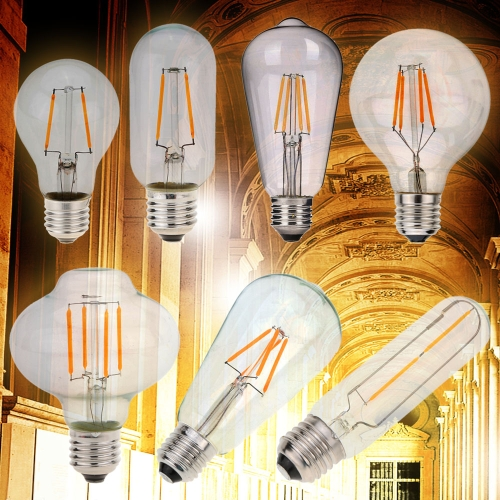 2W LED T10 Filament Bulb AC 220V E27 Base 20W Equivalent Vintage Retro Holiday Christmas Festival Decorations Warm White 2200KHome &amp; Garden<br>2W LED T10 Filament Bulb AC 220V E27 Base 20W Equivalent Vintage Retro Holiday Christmas Festival Decorations Warm White 2200K<br>