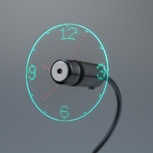 Creative USB LED Mini Clock Fan Night LightHome &amp; Garden<br>Creative USB LED Mini Clock Fan Night Light<br>