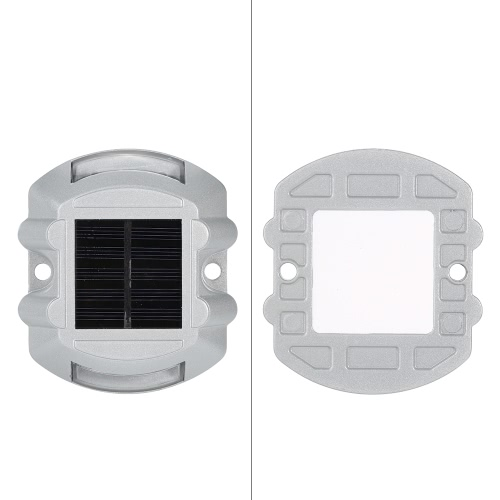 2 Pcs  6 LEDs Aluminum Waterproof Solar Powered Road Stud Steady BrightHome &amp; Garden<br>2 Pcs  6 LEDs Aluminum Waterproof Solar Powered Road Stud Steady Bright<br>