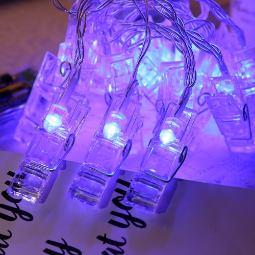 Mini DIY LED Clips Photo String LightHome &amp; Garden<br>Mini DIY LED Clips Photo String Light<br>