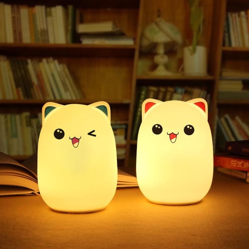 Colorful Bud Bear Silicone Lamp Rechargeable LED Light Cute Night Lamps Bedroom Lights For Children Kids Nightlight Taking Care ofHome &amp; Garden<br>Colorful Bud Bear Silicone Lamp Rechargeable LED Light Cute Night Lamps Bedroom Lights For Children Kids Nightlight Taking Care of<br>
