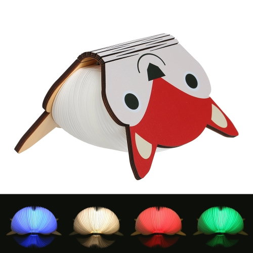 Cartoon USB Rechargeable Colorful Folding Book Light