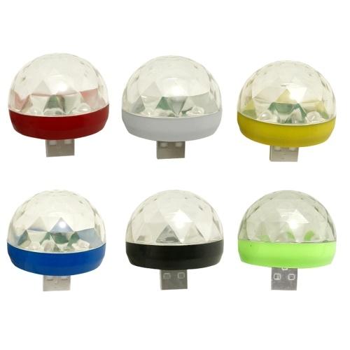 回転RGB LEDランプUSBマジックボールライト(USBポートのみ)