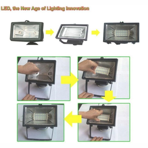 R7S 90 LEDs AC 85-265V Bulb Light Corn Lamp Floodlight Non-Dimmable 360 Degree IlluminationHome &amp; Garden<br>R7S 90 LEDs AC 85-265V Bulb Light Corn Lamp Floodlight Non-Dimmable 360 Degree Illumination<br>