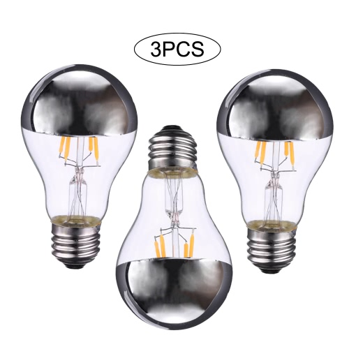 4W A60 LED Filament Bulb Light Shadowless Lamp AC220-240V E27 Base Vintage Retro Holiday Festival Decorations Warm WhiteHome &amp; Garden<br>4W A60 LED Filament Bulb Light Shadowless Lamp AC220-240V E27 Base Vintage Retro Holiday Festival Decorations Warm White<br>