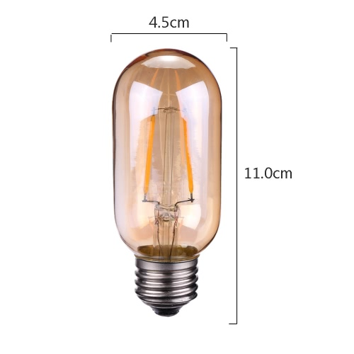 TOMSHINE 2W T45 LED Filament Bulb Light AC220-240V E27 Base Tawny Vintage Retro Holiday Festival Decorations Warm WhiteHome &amp; Garden<br>TOMSHINE 2W T45 LED Filament Bulb Light AC220-240V E27 Base Tawny Vintage Retro Holiday Festival Decorations Warm White<br>