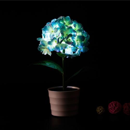 2 LEDs Solar Powered Hydrangea Flower LED Light NightHome &amp; Garden<br>2 LEDs Solar Powered Hydrangea Flower LED Light Night<br>