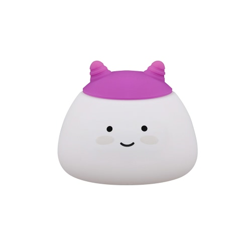 1.6W 8 LEDs Creative Cute Mascot Night Light USB Rechargeable Soft Silicone Cartoon Lamp 2 Control Patterns 5 Lighting Modes TouchHome &amp; Garden<br>1.6W 8 LEDs Creative Cute Mascot Night Light USB Rechargeable Soft Silicone Cartoon Lamp 2 Control Patterns 5 Lighting Modes Touch<br>