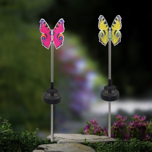 Lixada 2Pcs Color Changing Solar Powered Garden Pathway Lawn Landscape Decoration LED Bird Lamp Spike Light SenseComputer &amp; Stationery<br>Lixada 2Pcs Color Changing Solar Powered Garden Pathway Lawn Landscape Decoration LED Bird Lamp Spike Light Sense<br>