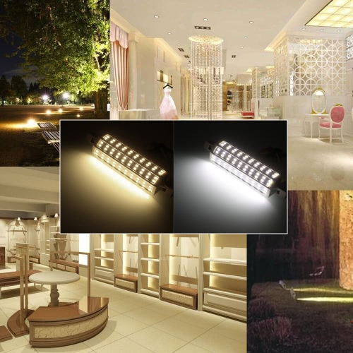 R7S 48 LEDs 15W 118mm 1300-1400LM SMD5730 AC85-265V Bulb Light Corn Lamp Floodlight Dimmable 270 degree Illumination High BrightneHome &amp; Garden<br>R7S 48 LEDs 15W 118mm 1300-1400LM SMD5730 AC85-265V Bulb Light Corn Lamp Floodlight Dimmable 270 degree Illumination High Brightne<br>
