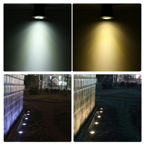 Tomshine 3W AC/DC 12V LED Underground Light Lamp 300LM High-power Tempered Glass Outdoor Ground Garden Path Floor Stair Yard SpotHome &amp; Garden<br>Tomshine 3W AC/DC 12V LED Underground Light Lamp 300LM High-power Tempered Glass Outdoor Ground Garden Path Floor Stair Yard Spot<br>