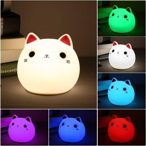 USB قابلة للشحن مصباح LED سيليكون القط