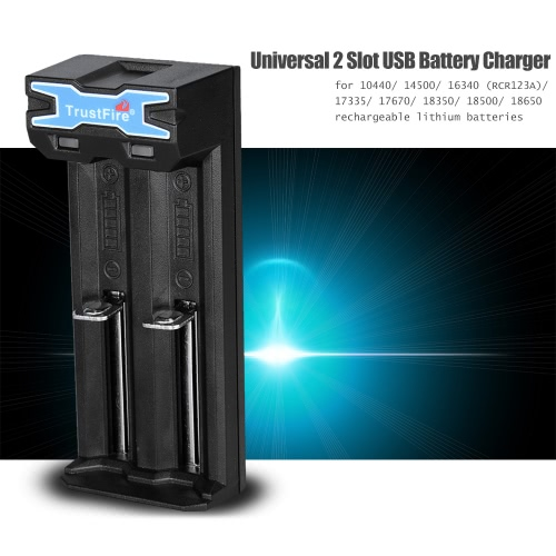 TrustFire TR-016 Portable Universal 2 Slot USB Battery Charger Charging System for 2pcs 10440/14500/16340(RCR123A)/17335/17670/183Home &amp; Garden<br>TrustFire TR-016 Portable Universal 2 Slot USB Battery Charger Charging System for 2pcs 10440/14500/16340(RCR123A)/17335/17670/183<br>