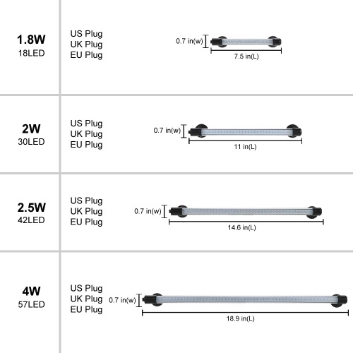 18.9 4W 57LED 3 Colors IP68 Waterproof Submersible Aquarium Light Suction Stick Bar Lamp for Fish Tank Pet Cage Cistern RockeryHome &amp; Garden<br>18.9 4W 57LED 3 Colors IP68 Waterproof Submersible Aquarium Light Suction Stick Bar Lamp for Fish Tank Pet Cage Cistern Rockery<br>