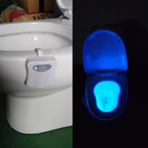 16 Colors LED Toilet Nightlight Motion Activated LightHome &amp; Garden<br>16 Colors LED Toilet Nightlight Motion Activated Light<br>
