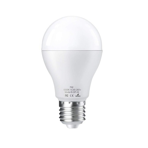2PCS / lot E27 7W LED لمبة الضوء مع جهاز استشعار الحركة