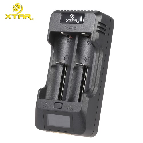 XTAR VP2 LCD Intelligent Digital Multifunctional 2 Slots Channels Current Voltage Selectable Lithium Li-ion Battery Charger for 3.Home &amp; Garden<br>XTAR VP2 LCD Intelligent Digital Multifunctional 2 Slots Channels Current Voltage Selectable Lithium Li-ion Battery Charger for 3.<br>