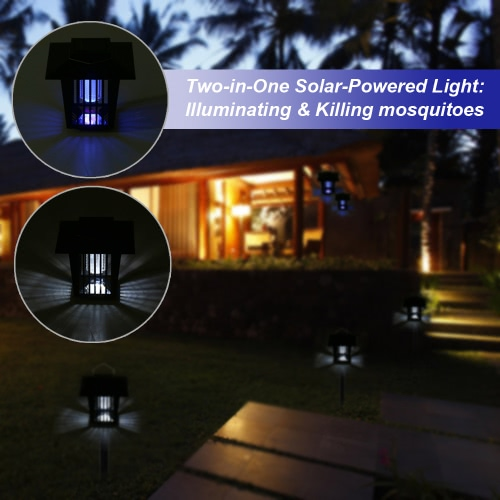 Solar Powered LED Mosquito Killer 0.1W 20LM Light Sensing Lantern Water-resistant Rechargeable Electronic Bug Moth Insect RepellenHome &amp; Garden<br>Solar Powered LED Mosquito Killer 0.1W 20LM Light Sensing Lantern Water-resistant Rechargeable Electronic Bug Moth Insect Repellen<br>