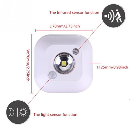 Human Body Infrared Motion Sensor Night Light LED Control Indoor Lighting Corridor Energy Saving Cabinet Small Size Portable StickHome &amp; Garden<br>Human Body Infrared Motion Sensor Night Light LED Control Indoor Lighting Corridor Energy Saving Cabinet Small Size Portable Stick<br>