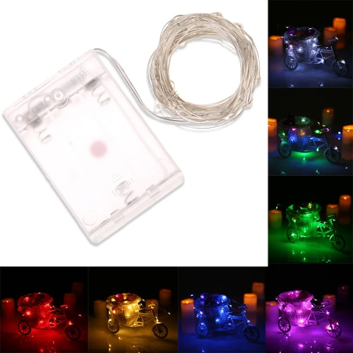 50 LEDs 5m/16.4ft Outdoor Copper String Wire Lights Colorful Fairy Lamp Battery Operated Water-resistant for Festive CelebrationsHome &amp; Garden<br>50 LEDs 5m/16.4ft Outdoor Copper String Wire Lights Colorful Fairy Lamp Battery Operated Water-resistant for Festive Celebrations<br>