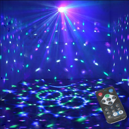 3W RGB Remote Control Mini LED Magic Ball Lamp Stage Effect Light for Disco KTV Club Bar Home PartyHome &amp; Garden<br>3W RGB Remote Control Mini LED Magic Ball Lamp Stage Effect Light for Disco KTV Club Bar Home Party<br>