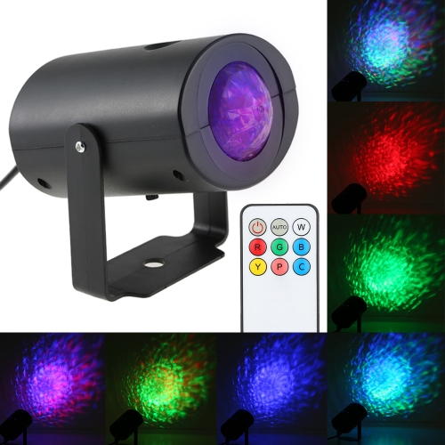 9W RGBW Water Wave Ripple Effect LED Stage Light with IR Remote