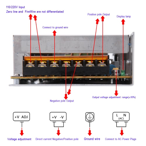 Adjustable LED Driver Switch Power Supply AC 110V/220V to DC 12V 16.7A 200W Voltage Transformer for Led StripHome &amp; Garden<br>Adjustable LED Driver Switch Power Supply AC 110V/220V to DC 12V 16.7A 200W Voltage Transformer for Led Strip<br>