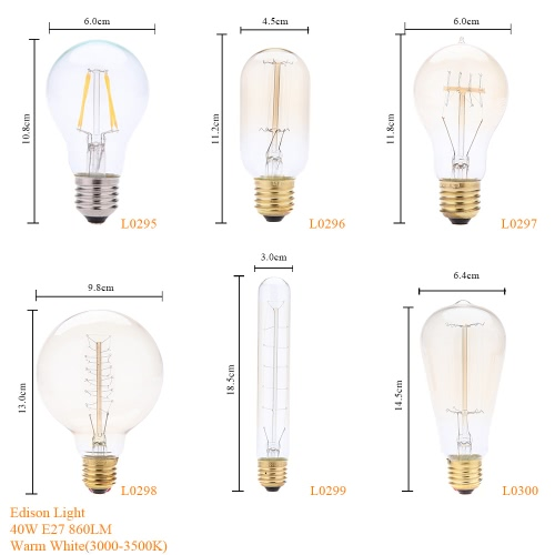 40W E27 Decorative Vintage Filament Edison Light Antique Bulb Art Lamp 220VHome &amp; Garden<br>40W E27 Decorative Vintage Filament Edison Light Antique Bulb Art Lamp 220V<br>