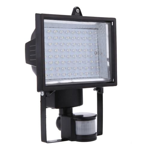 Ultra luminioso 80 LED Movimento d'uomo di corpo PIR a Energia Solare & Sensore della Luce Pannello di Lampada Ribalta di Sicurezza all'aperto per Prato Giardino Piscina Laghetto Strada Percorso Vialetto Bianco