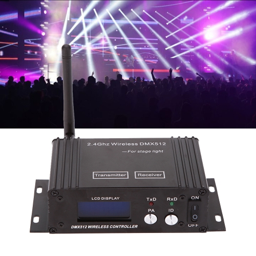 2.4G Wireless DMX 512 Lighting Controller Transmitter ReceiverHome &amp; Garden<br>2.4G Wireless DMX 512 Lighting Controller Transmitter Receiver<br>