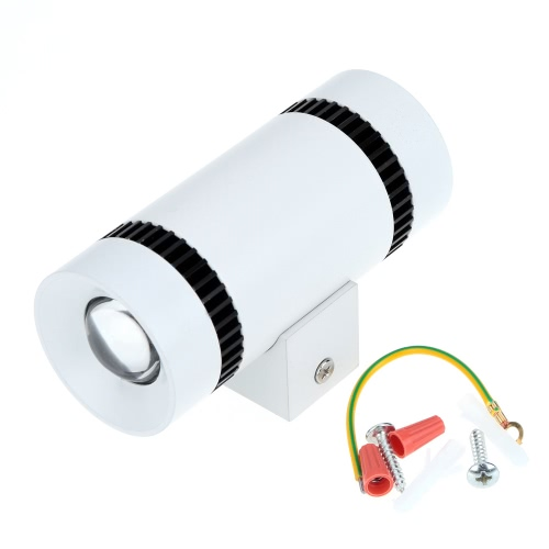 6W 85-265V AC Modern Simple Mini Aluminum LED Wall Light Double End Lamp Fixture Indoor Bedroom Hallway Hotel for Home Decor and LHome &amp; Garden<br>6W 85-265V AC Modern Simple Mini Aluminum LED Wall Light Double End Lamp Fixture Indoor Bedroom Hallway Hotel for Home Decor and L<br>