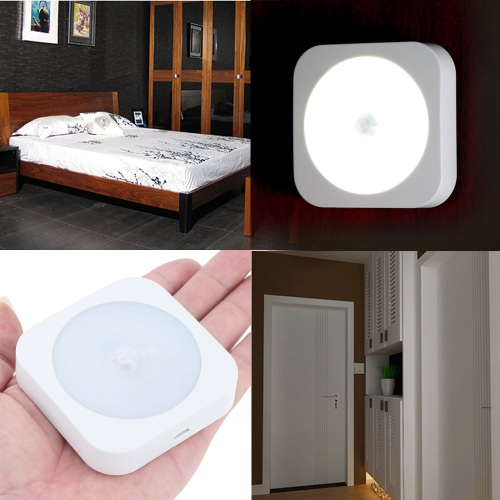 Mini Motion Sensor LED Night Light Wireless Rechargeable Build-in Lithium Battery Cabinet Bedside Hallway CE RoHsHome &amp; Garden<br>Mini Motion Sensor LED Night Light Wireless Rechargeable Build-in Lithium Battery Cabinet Bedside Hallway CE RoHs<br>