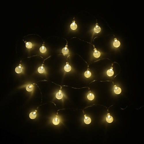 2.2M 20 LED Warm White Crystal Ball Globe Bubble String Lamp Fairy Light for Party Wedding Home Decor Christmas GiftHome &amp; Garden<br>2.2M 20 LED Warm White Crystal Ball Globe Bubble String Lamp Fairy Light for Party Wedding Home Decor Christmas Gift<br>