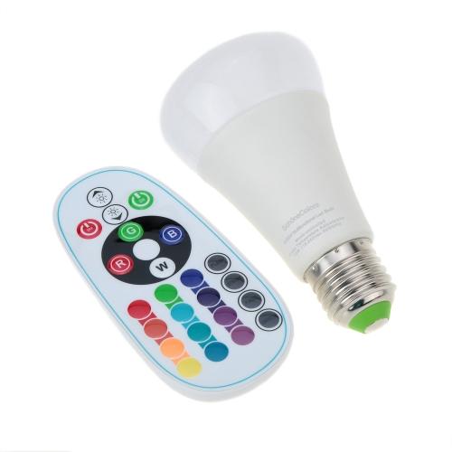 E27 10W 110-240V AC RGBW Colorful LED Bulb Light Stage Lamp Remote Control Color &amp; Brightness Adjustable Home Indoor Decor LightinHome &amp; Garden<br>E27 10W 110-240V AC RGBW Colorful LED Bulb Light Stage Lamp Remote Control Color &amp; Brightness Adjustable Home Indoor Decor Lightin<br>