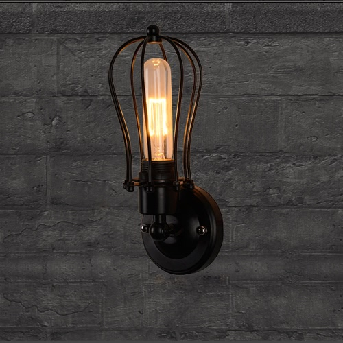 Lixada Vintage Retro Cases Lamp Light E27 Country Wall Sconce Mounted Bedroom Loft Living Room Hotel HallHome &amp; Garden<br>Lixada Vintage Retro Cases Lamp Light E27 Country Wall Sconce Mounted Bedroom Loft Living Room Hotel Hall<br>