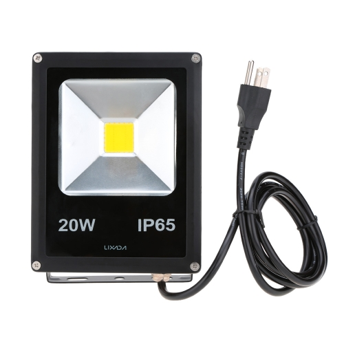 Lixada Real Power 20W IP65 Water Resistant LED Flood Light Lamp with US Plug 85-265V for Garden Outdoor IlluminationHome &amp; Garden<br>Lixada Real Power 20W IP65 Water Resistant LED Flood Light Lamp with US Plug 85-265V for Garden Outdoor Illumination<br>