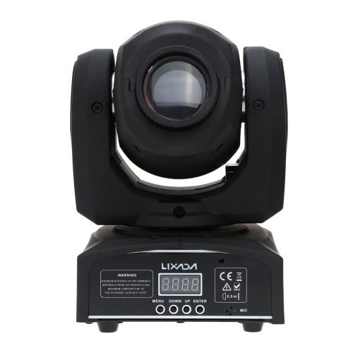 Lixada DMX-512 Mini Moving Head Licht 8 Farbänderungen LED Bühnenlicht mit Formen Automatische Professionelle 9/11 Kanal Party Disco Show 25 Watt AC 100-240 V Sound Aktiv