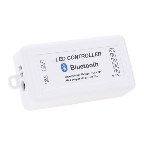 PWM Bluetooth RGBW LED Controller for LED Strip Light Module Magic LED Light Support for Iphone for Android DC5-24V 16A MaxHome &amp; Garden<br>PWM Bluetooth RGBW LED Controller for LED Strip Light Module Magic LED Light Support for Iphone for Android DC5-24V 16A Max<br>