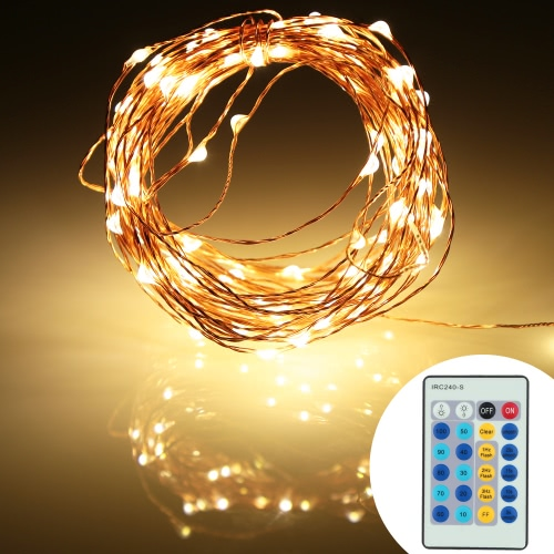 DC12V 6W 10M 100 LEDs Silver Copper Wire LED Light Strip &amp; 2A Power Adapter &amp; Remote Control Christmas Holiday Festival DecorationHome &amp; Garden<br>DC12V 6W 10M 100 LEDs Silver Copper Wire LED Light Strip &amp; 2A Power Adapter &amp; Remote Control Christmas Holiday Festival Decoration<br>