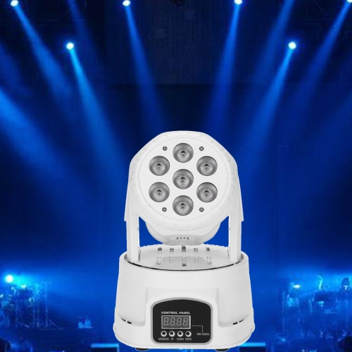 Lixada 7LED 105W RGBW 9/14 Channel DMX512 Mini Stage LightHome &amp; Garden<br>Lixada 7LED 105W RGBW 9/14 Channel DMX512 Mini Stage Light<br>