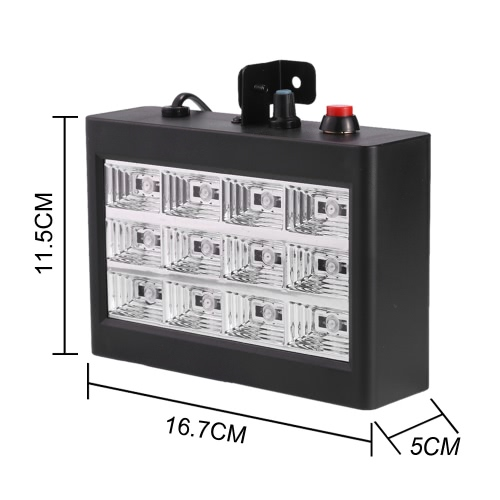 AC110-240V 12 LEDs 9W Strobe Stage Effect Light RGB Flash Light Stage Party Lighting Sound Activated Auto Run for Club Disco DJ BaHome &amp; Garden<br>AC110-240V 12 LEDs 9W Strobe Stage Effect Light RGB Flash Light Stage Party Lighting Sound Activated Auto Run for Club Disco DJ Ba<br>