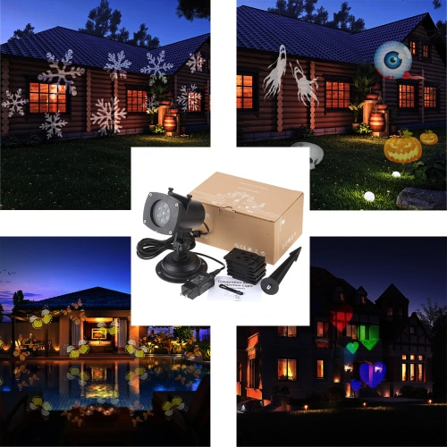 Tomshine Christmas Pumpkin/Ghost/Heart/Snowflake  Rotating LED Projection LightHome &amp; Garden<br>Tomshine Christmas Pumpkin/Ghost/Heart/Snowflake  Rotating LED Projection Light<br>
