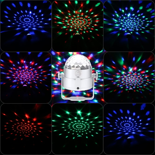 6W Mini LED RGB Multi-colored Magic Ball Light Small Movable Sound Activated Portable USB Powered Lamp Disco Stage Effects for KTVHome &amp; Garden<br>6W Mini LED RGB Multi-colored Magic Ball Light Small Movable Sound Activated Portable USB Powered Lamp Disco Stage Effects for KTV<br>