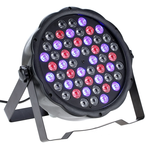 70W 54LED 7Channel RGBW Flat Wash PAR Light Stage Effect Lamp Support DMX-512 Sound Activated Strobe Dimmable for Xmas Party DiscoHome &amp; Garden<br>70W 54LED 7Channel RGBW Flat Wash PAR Light Stage Effect Lamp Support DMX-512 Sound Activated Strobe Dimmable for Xmas Party Disco<br>