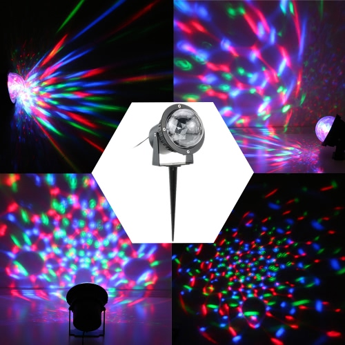 3W RGB LED Outdoor Lawn Garden Mini Crystal Magic Ball Project Lamp IP65 Water Resistant Stage Effect Light for Halloween ChristmaHome &amp; Garden<br>3W RGB LED Outdoor Lawn Garden Mini Crystal Magic Ball Project Lamp IP65 Water Resistant Stage Effect Light for Halloween Christma<br>