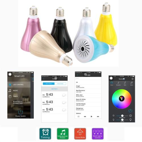 10W E26/E27 Smart Bluetooth RGBW LED Bulb Light BT Speaker Dimmable Color Changing AdjustableSmartphone App ControlHome &amp; Garden<br>10W E26/E27 Smart Bluetooth RGBW LED Bulb Light BT Speaker Dimmable Color Changing AdjustableSmartphone App Control<br>