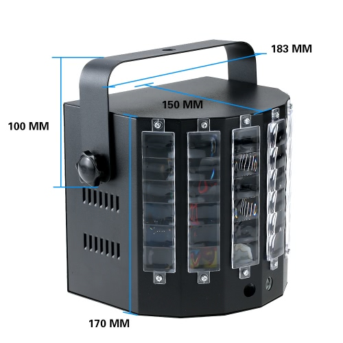 18W 9 Colors 9 LED 2 Channel Remote Control Dual Sword Butterfly Stage Light DMX512 Sound Activated Strobe Flicker Effect Lamp forHome &amp; Garden<br>18W 9 Colors 9 LED 2 Channel Remote Control Dual Sword Butterfly Stage Light DMX512 Sound Activated Strobe Flicker Effect Lamp for<br>