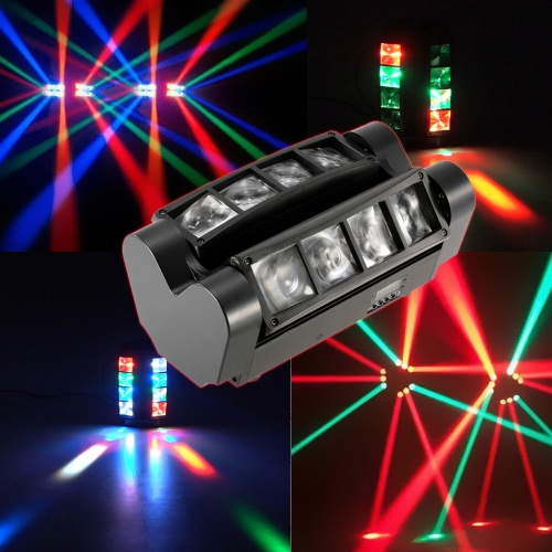 90W RGBW 6 / 12 Channels LED DMX512 Sound Activated Mini Spider Stage Beam LightHome &amp; Garden<br>90W RGBW 6 / 12 Channels LED DMX512 Sound Activated Mini Spider Stage Beam Light<br>